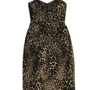 J. Crew Strappy Metallic Leopard Spot Dress